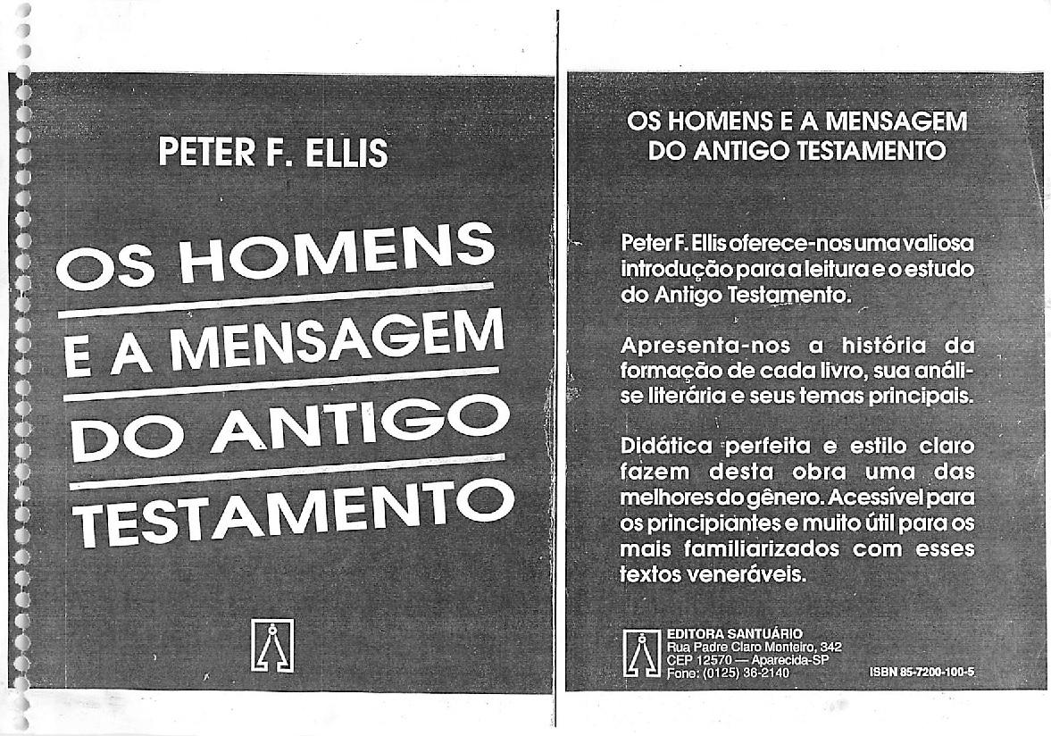 Os Homens e a Mensagem do Antigo Testamento em PDF
